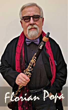 Florian Popa con su clarinete